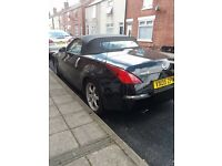 nissan 350z black fsh aircon ,convertable leather interior good condition cobra sports exhaust