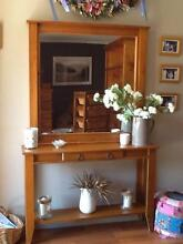 Pine Hall table and mirror Cornubia Logan Area Preview