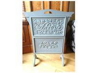 Cottage Chic Shabby White French Fireplace Screen - Free Delivery