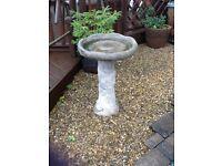Concrete bird table