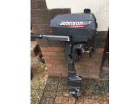 JOHNSON 4HP 2 STROKE BOAT ENGINE