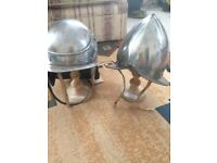 Two english civil war repro helmets