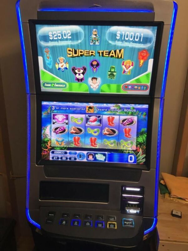 WILLIAMS BLUEBIRD 3 BLADE NXT 3.2 SUPER TEAM SLOT MACHINE WMS CHEAPEST BB3