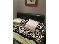 Double leather look bed vgc