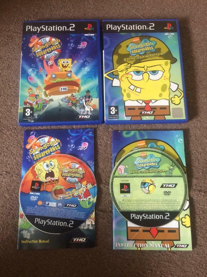 playstation 2 spongebob squarepants movie spongebob