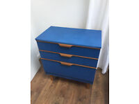Retro chest of drawers _ mid century wood upcycled ikea vintage wood sideboard