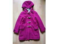 Pink Boden winter duffle coat age 8-9 years
