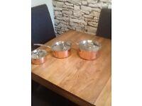 Set of three pans
