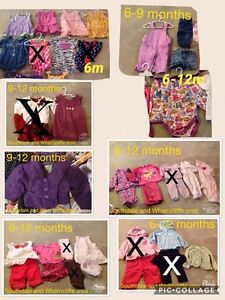 Baby girl clothing 6-12 to 2t