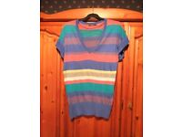 Women Ladies Striped Coloured Top From Primark (Atmosphere) Size 16