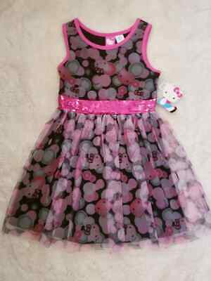 Pink Dress For Girl (Girl's Hello Kitty Dress-Size 6/6x-Pink & Black-New w/Tags-Great for)