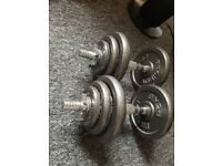 PROIRON 20kg Cast Iron Adjustable Dumbbell Set Hand Weight - Fully Negotiable