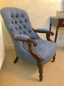 Antique upholstered chair