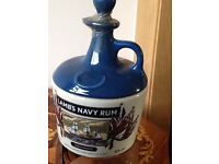 Lambs Navy Rum. HMS Warrior. Collector jug 750ml. 40percent volume.