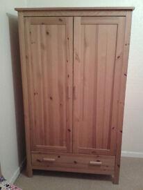 Jamestown Wardrobe (Antique Pine W100 x H170 x D55cm)
