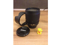 Camera lens for sale, Nikkor 18-105 Nikon attachment, optimal conditions, your pick up.
