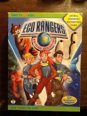 Eco Rangers Animal Kingdom Learning Adventure Game DVD age 6 up Snap TV Kids