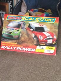 Mini Scalextric Rally Power track- full working order and boxed.