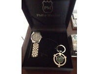 Phillip Mercier watch and compass. (comes in box)