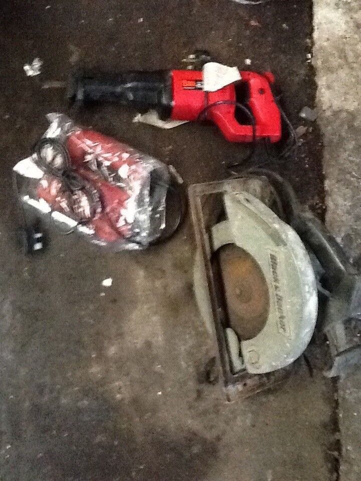 Bundle of power tools new and used.