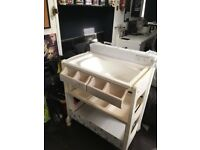 Only few months used baby changing table with bath