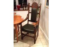 Genuine Wood Bros Old Charm grand carver chair