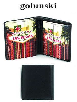 Style Vegas: Mens Premier Quality Leather Wallet By Golunski £15.00