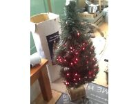 Fibre optic Christmas tree with gold base