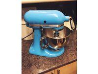 Cornflower Blue Kitchen Aid PLUS Ice Cream Attachment - Great Condition