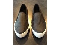 Black with white trim ladies 'slip on' Converse style shoes UK size 5...
