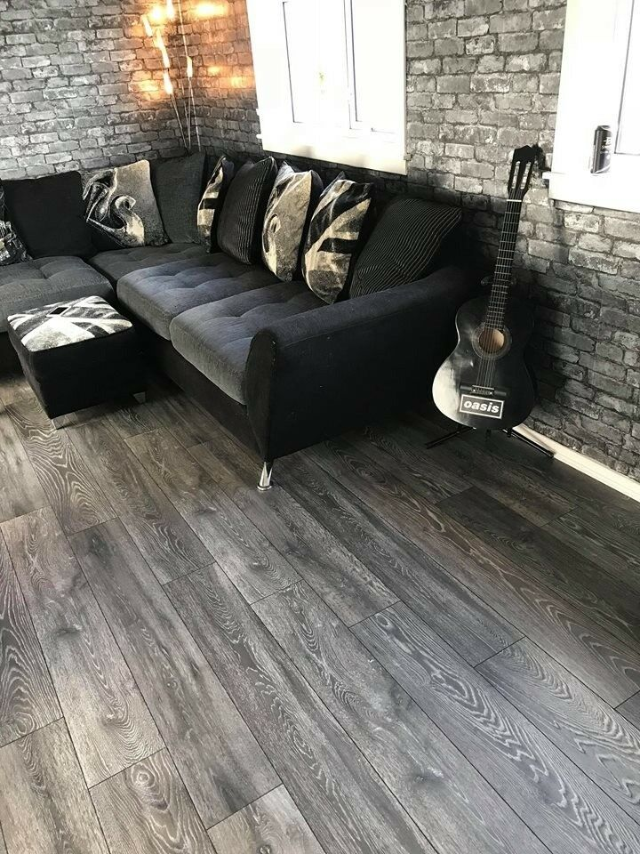 8mm Laminate Flooring Grey Charcoal Ac4 Commercial Grade 20m2