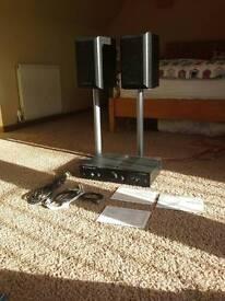 Cambridge Audio integrated amplifier with Maudant short speakers