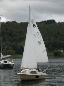 Sailing Boat Skipper 17 with Yamaha 4hp out board motor