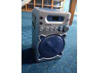 Goodmans karaoke machine & microphone & CDs