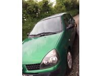 RENAULT CLIO 1.2 ,CHEAP TO INSURE AND CHEAP ROAD TAX ,PERFECT FIRST TIME DRIVER CAR