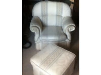 Chair & Footstool *** £30 *** Reduced for Quick Sale ***