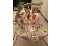 Baby bouncer by fisher price with calming vibration