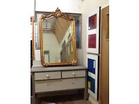 Extremely Large Gold Ornate Mirror