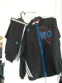 11-12 yrs boys ADIDAS F50 TRACKSUIT (top + bottoms) *PERFECT!!*