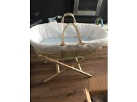 Moses Basket With Mattress and Stand for sale , kilmarnock