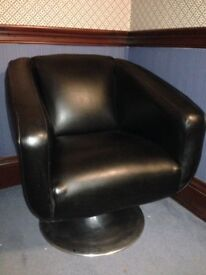 2 swivel chairs, black, excellent condition