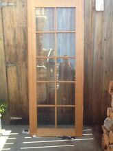 Solid Tas oak door with glass panels Devonport Devonport Area Preview
