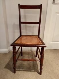 Antique Mahogany and Cane Chair