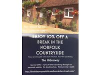 Self catering secluded cottage in the heart of East Anglia, convenient for Norwich
