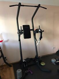Pull up bar station with ab and dip bar.