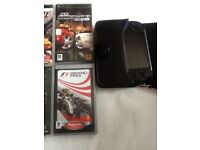 Psp street with 10 games case and accessories
