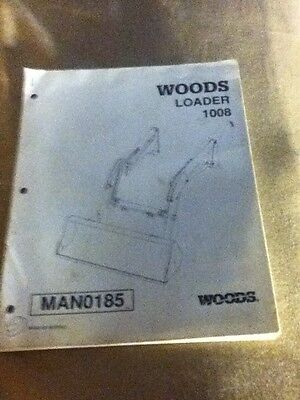 Man0185 - A New Operators Manual For A Woods 1008 Loader