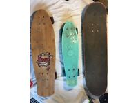 Three Skateboards For Sale, Varying Sizes