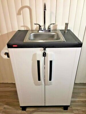 Portable Sink Mobile Handwash Self Contained Hot Water Concession. Elkay