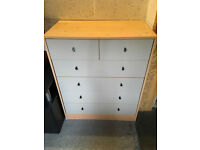 SET OF TALL WHITE DRAWERS FOR SALE